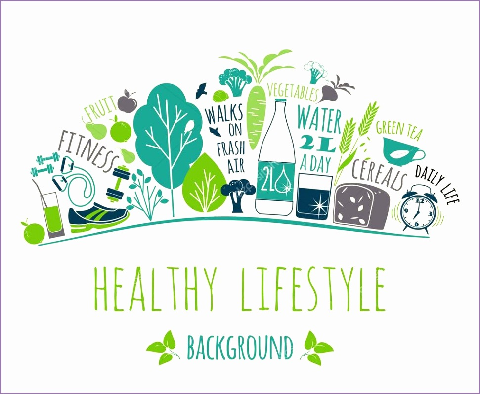 stock illustration healthy lifestyle background
