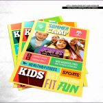 6 Kids Fitness Flyer Template