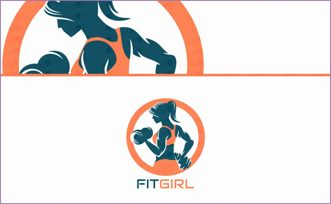 spectacular female fitness logo sale gym logo
