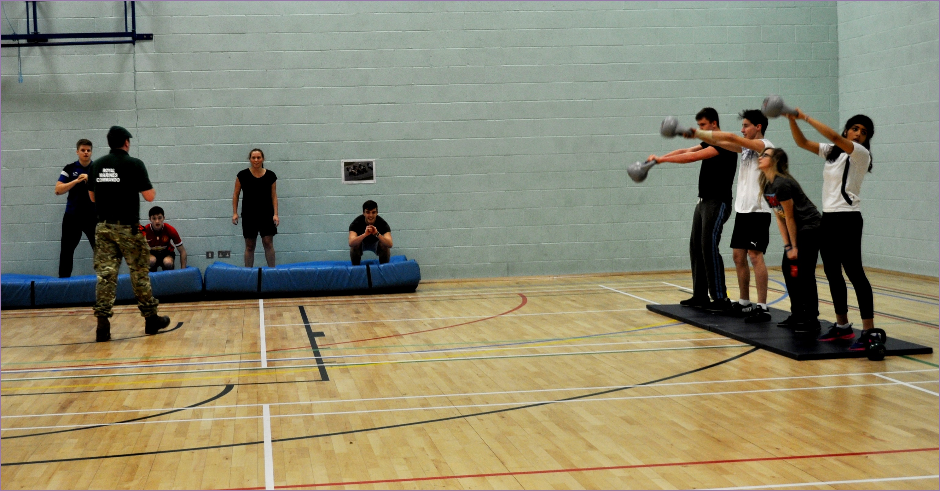 students conquer royal marines fitness session
