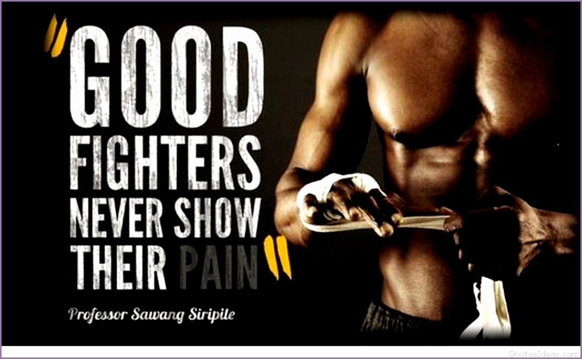 Good fighters men motivational fitness quote