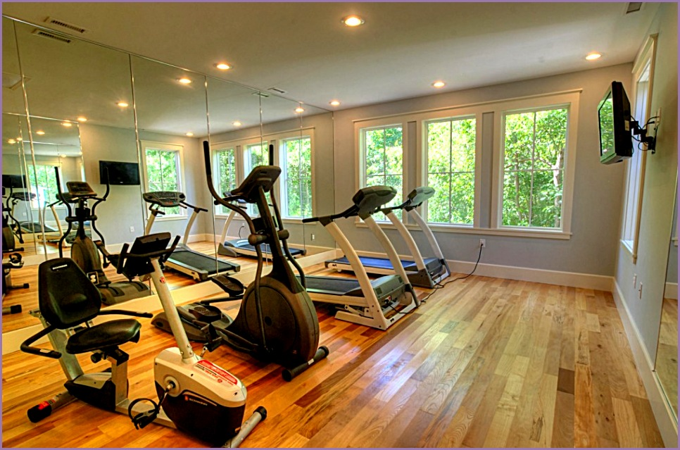 modern fitness center room with natural and modern design of the room make it seems so modern and well designed it has a big space for you to explore your activities in sport and gym in this fitness