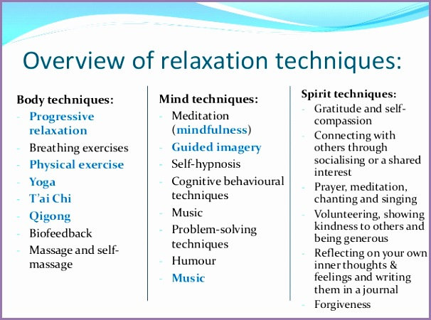 introducing relaxation