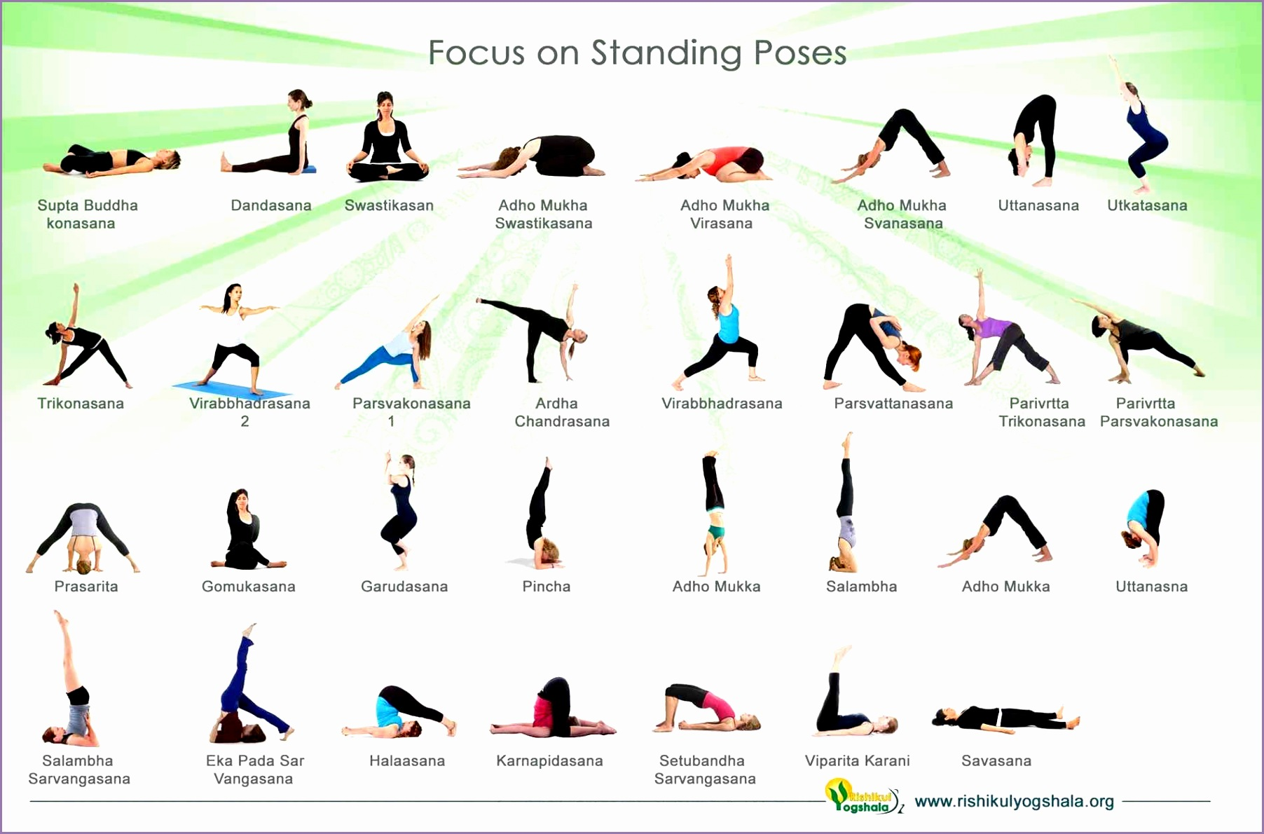 with posses and pose posses standing yoga poses names with and pose for beginners work out picture media for standing yoga poses
