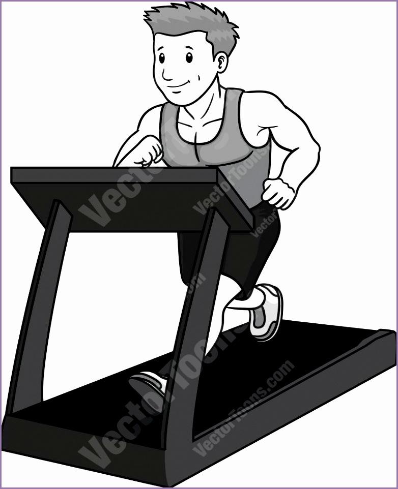 fit man running on a treadmill