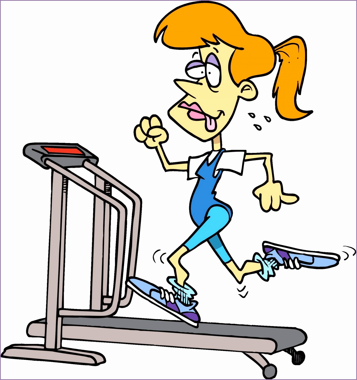 funny workout cartoons