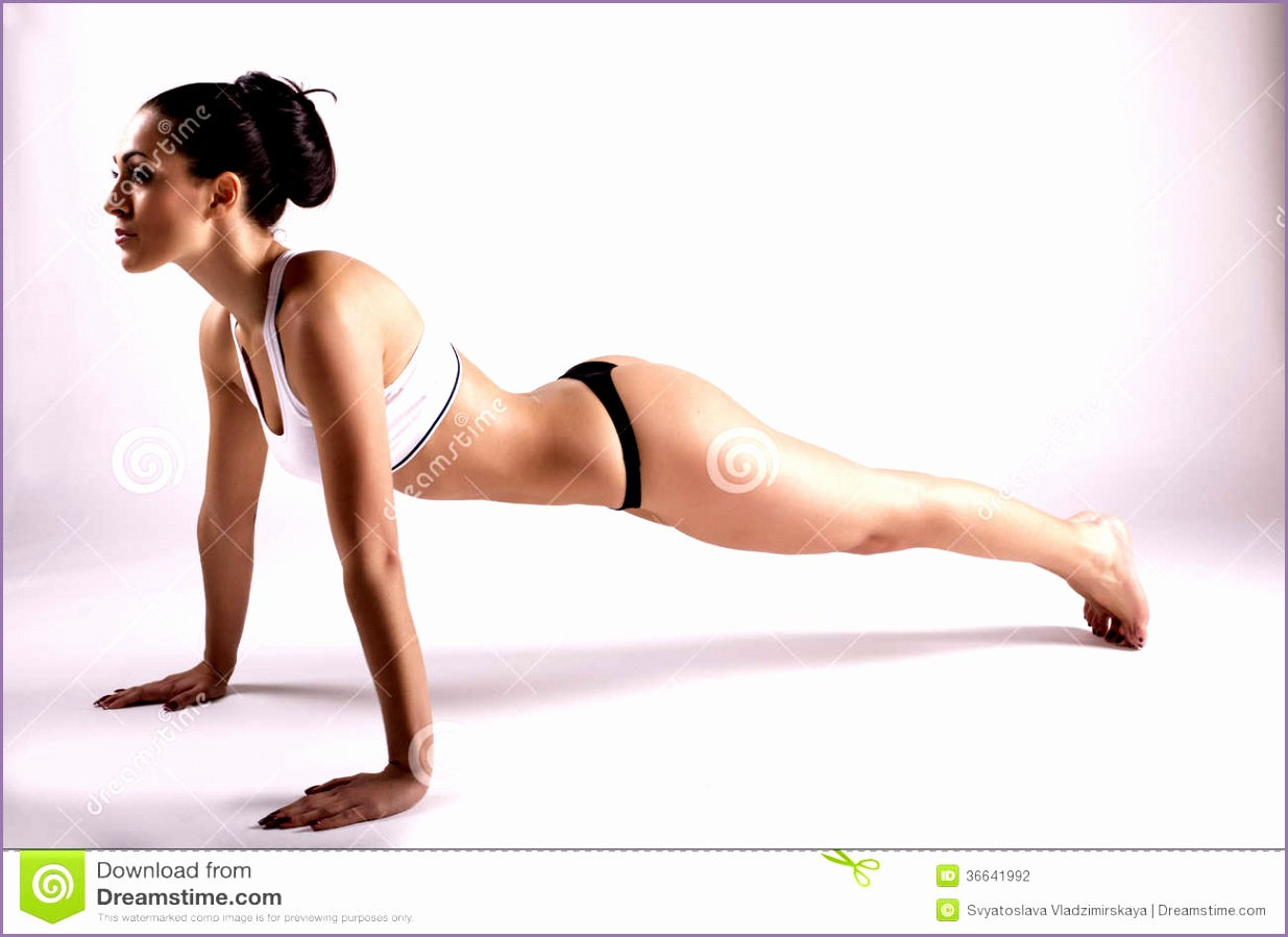 stock photography beautiful girl making yoga perfect sportive body pose image