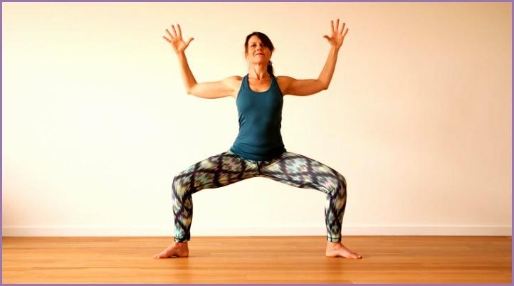 calming moon salutation yoga sequence