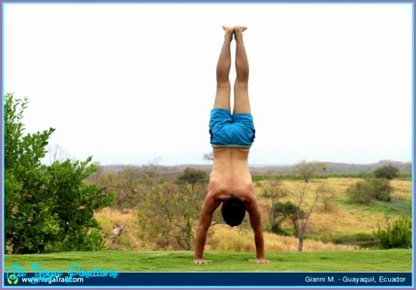yoga handstand pose yoga