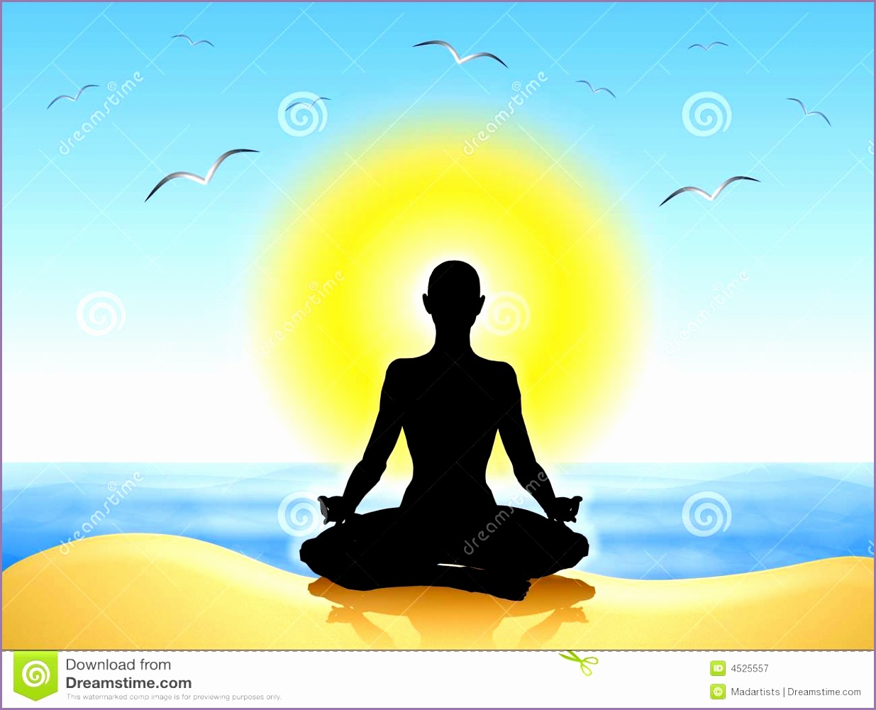 royalty free stock photography yoga meditation beach image