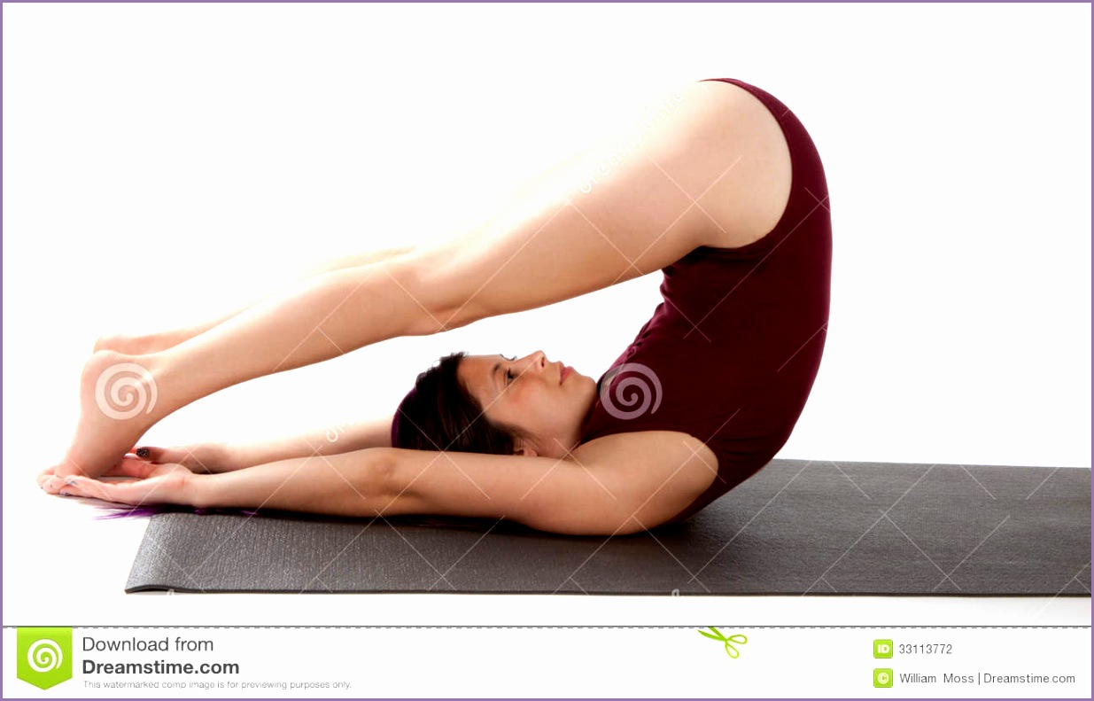 stock photography plow pose image young woman inversion yoga called image