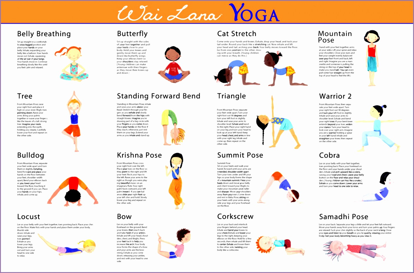 picture regarding Yoga Poses for Kids Printable referred to as 4 Yoga Poses for Young children Printable - Function Out Imagine Media