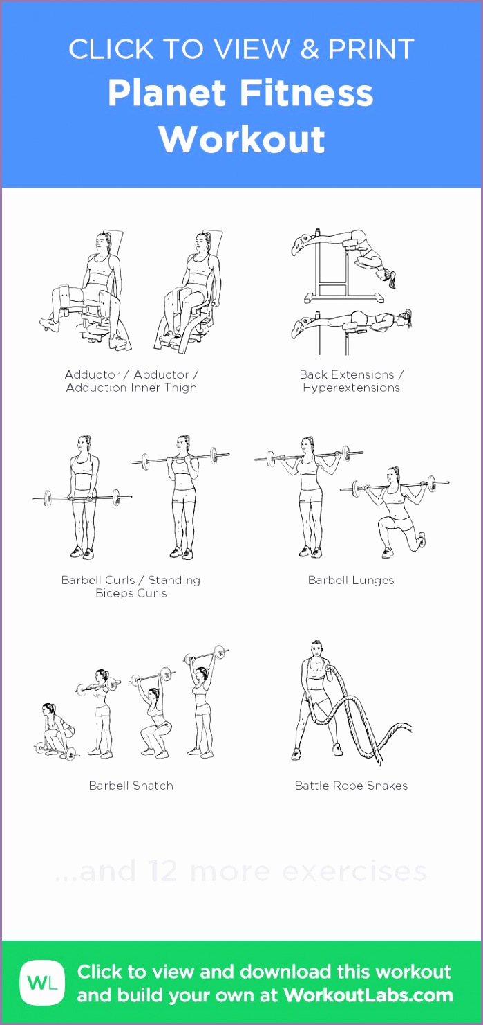planet fitness workout sheets