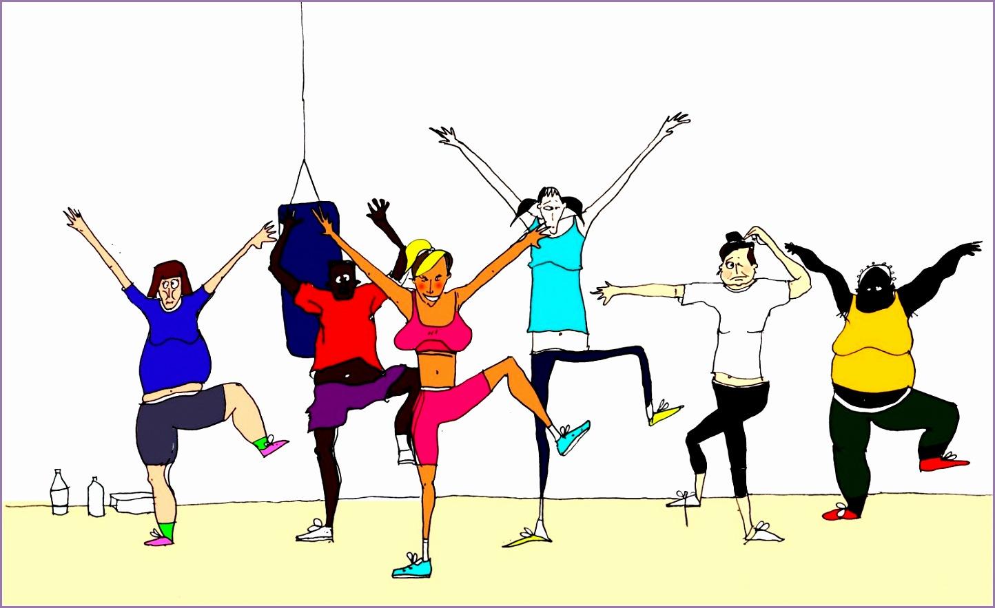 fitness class clip art jv0e4