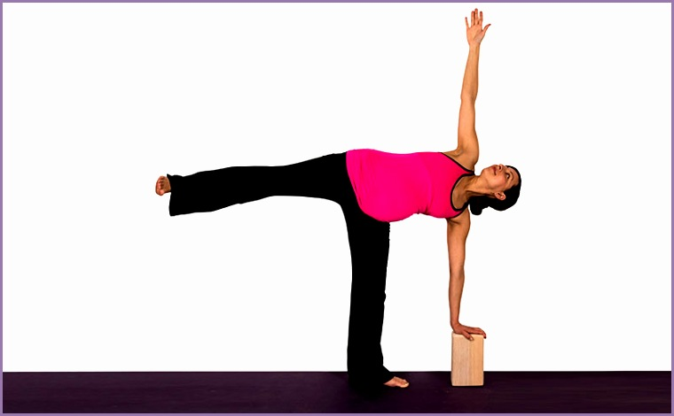 yoga pregnancy half moon pose wall