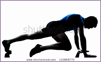 Muscular Mans Back In Silhouette Isolated White Background