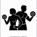 8 Male Fitness Silhouette