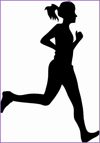 running woman clipart vector