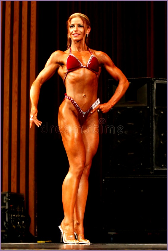 editorial photo female bodybuilder ontario physique association petition london ontario canada september athlete s name image