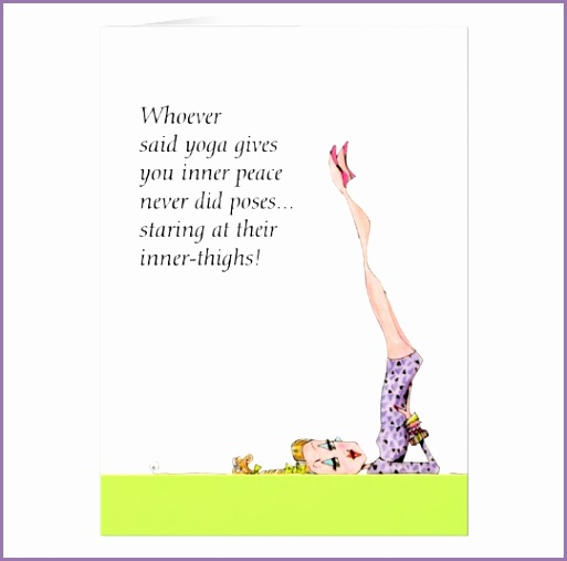 funny yoga pose card suitable for framing
