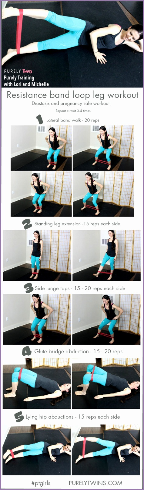 the best resistance band leg workout diastasis and pregnancy workout