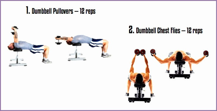 chest workouts with dumbbells at home