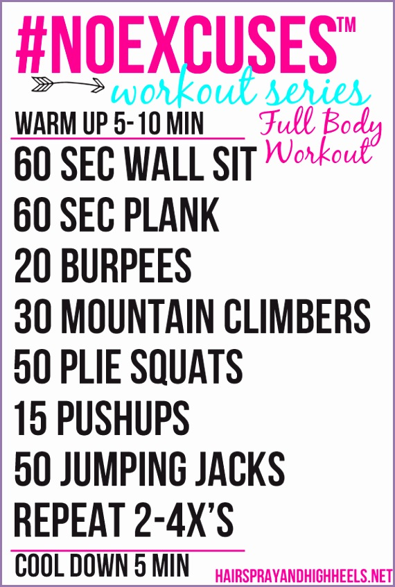noexcuses full body workout