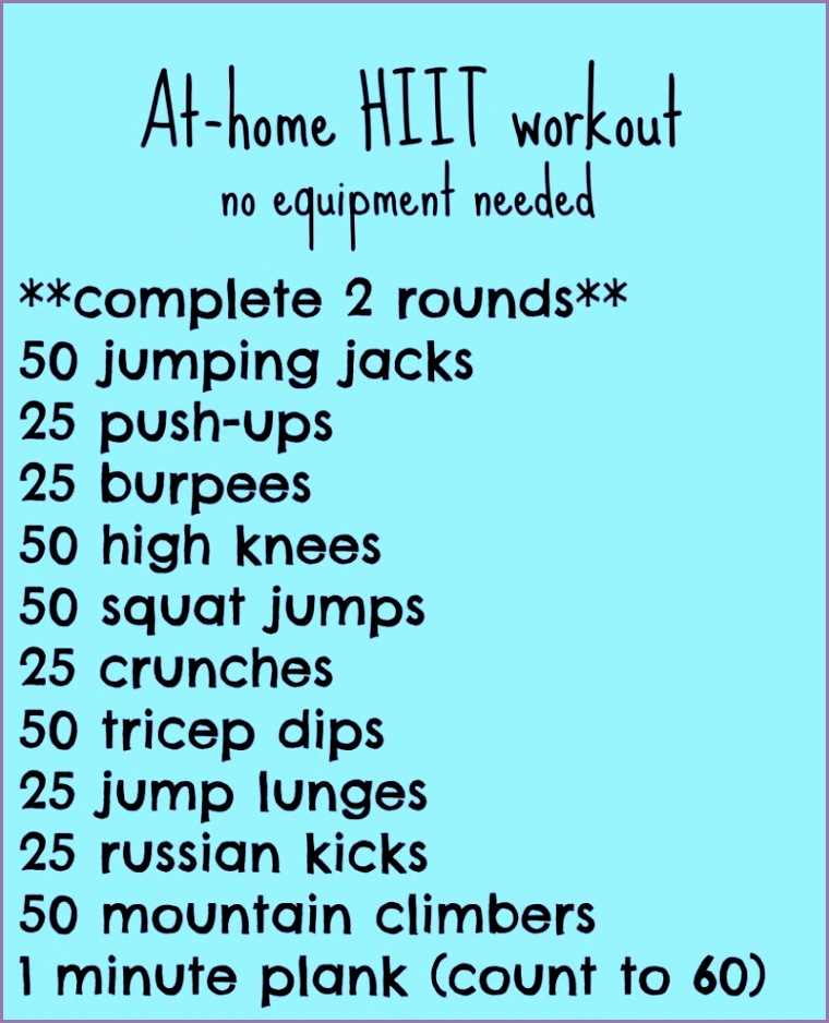 best hiit workouts at home