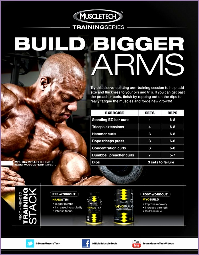 intense arm workout for size