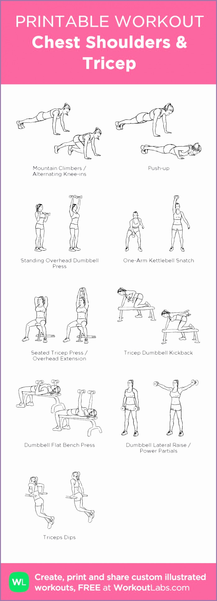 chest shoulder tricep workout at home