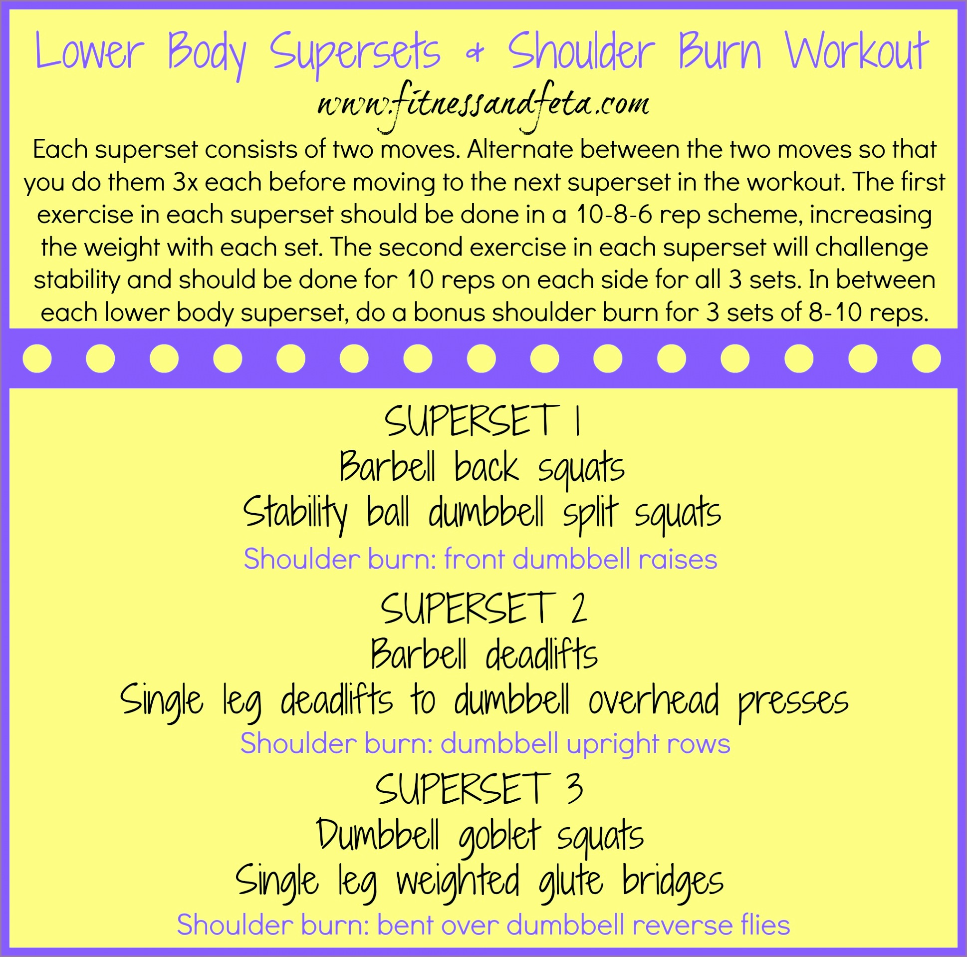 lower body supersets shoulder burn workout