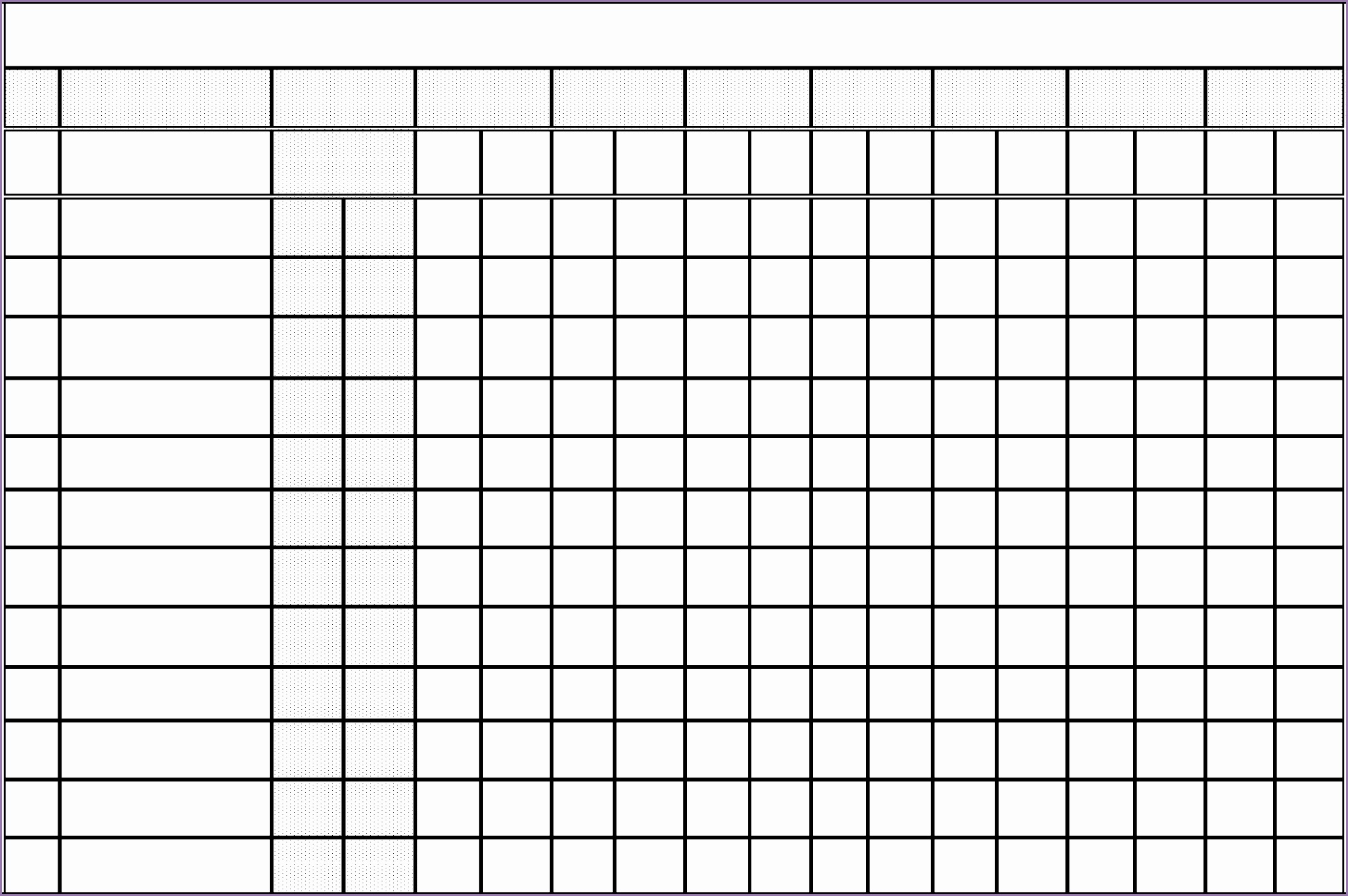 free blank workout chart template