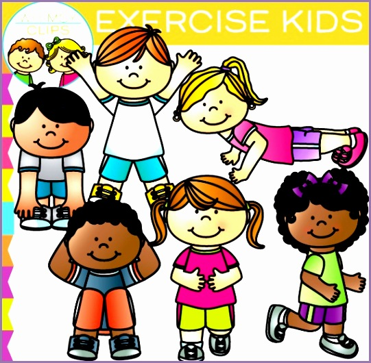 kids exercise clip art xzfg7