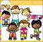 6 Children Fitness Clip Art