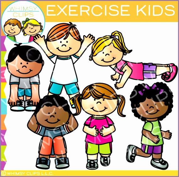 exercise kids clip art