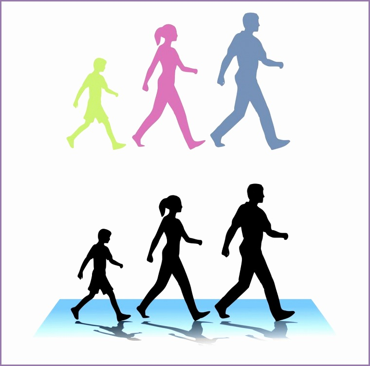 collectionwdwn walking exercise clipart