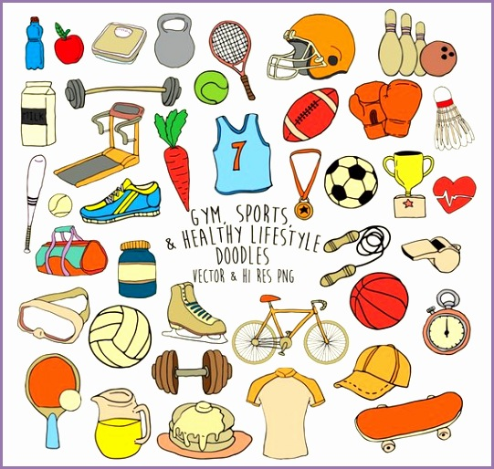 doodle gym clipart sports clipart