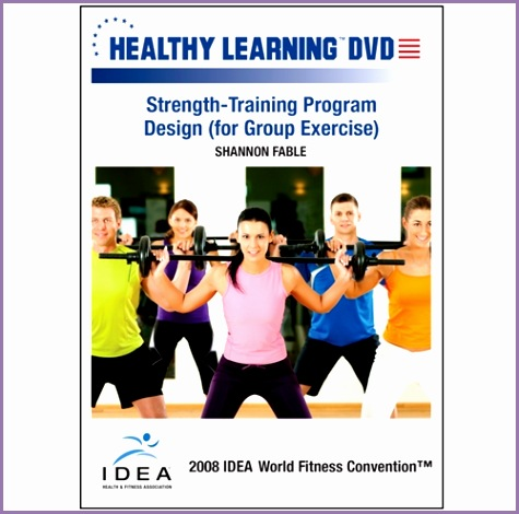 strength training program design for group exercise dvd format d dvd