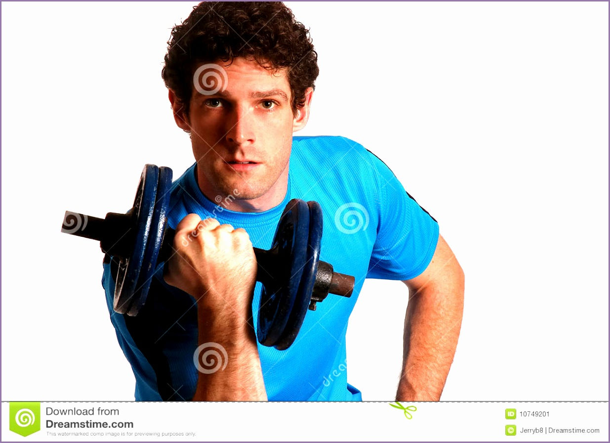 stock image man lifting weights image