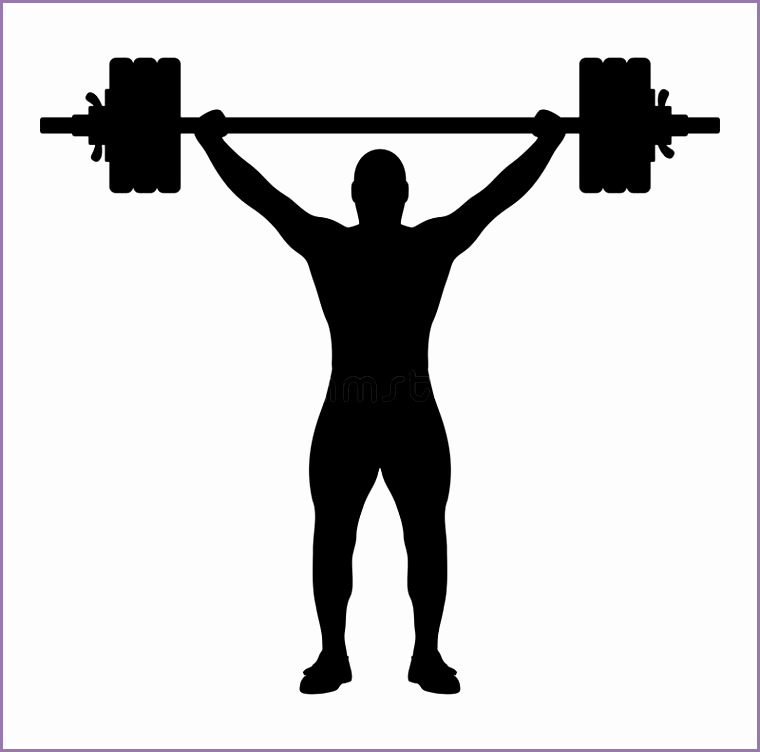 stock illustration weight lifter silhouette vector illustration weightlifting black white background editable eps file available image