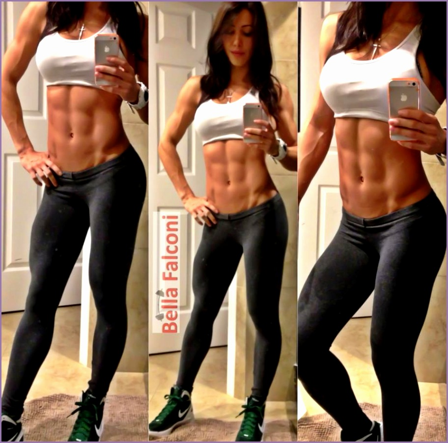 bella falconi the best 20 pics of this cut fitness model female gym motivation
