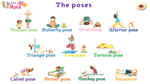 basic yoga poses for kids  kids matttroy