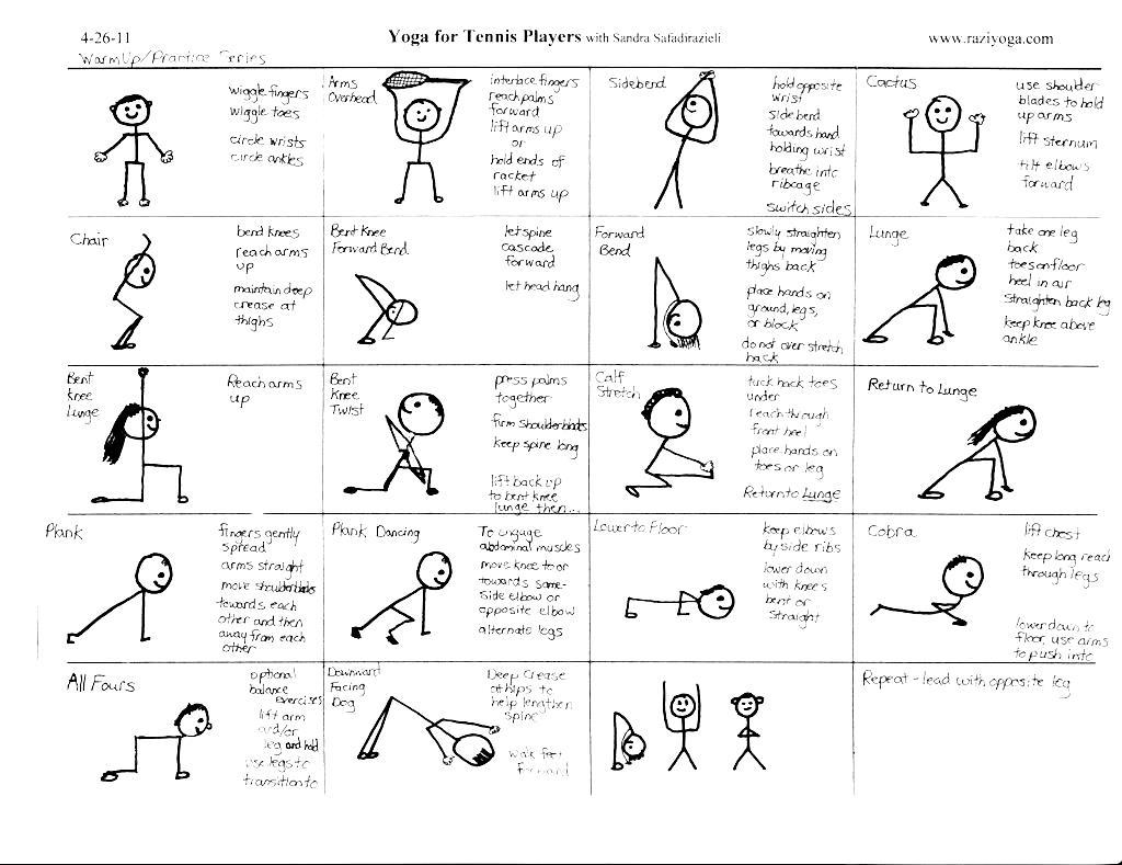 Printable chair yoga poses - Yoga Asanas Postures With Names Pdf Workout Krtsy