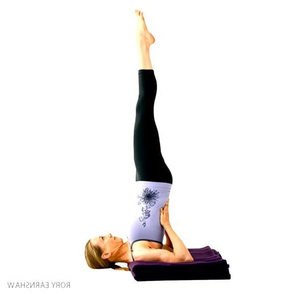 Supported Shoulderstand Balancing Yoga Poses Work Out