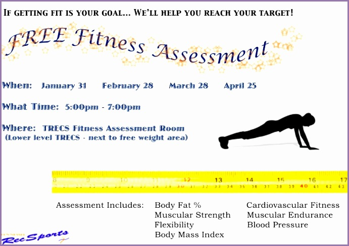 Fitness assessment Flyer Wyrkif Awesome Free Fitness assessment