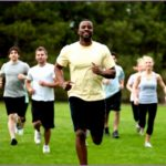 4 Fitness Boot Camp Stock Photo