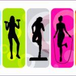 6 Fitness Class Clip Art