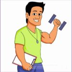 4  Fitness Instructor Clipart