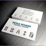 4 Personal Trainer Business Cards
