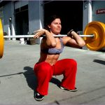 6 Fitness Girls Squatting